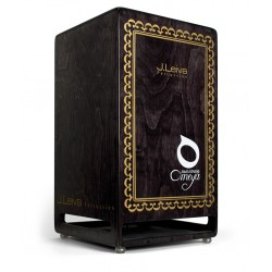 LEIVA PERCUSSION Cajon Omeya Bass Studio Black