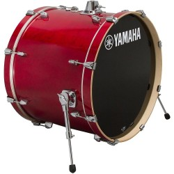 "Yamaha Stage Custom Birch Bombo 24x15"" Cranberry Red"