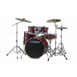 YAMAHA Stage Custom Birch Standard Cranberry Red + HW680W