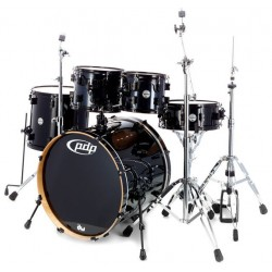 PDP by DW Concept Maple CM5 Standard Black Sparkle con herrajes