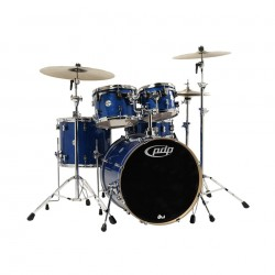 PDP by DW Concept Maple CM5 Studio Blue Sparkle con herrajes