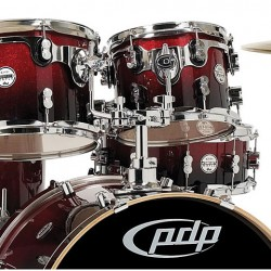 PDP by DW Concept Maple CM5 Studio Red to Black Fade