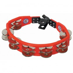 LP LP161 Tambourine Drum Cyclop Steel Red