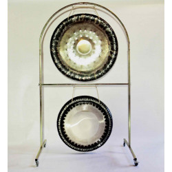 """Tone of Life Arched Double Gong Stand 42"""""""