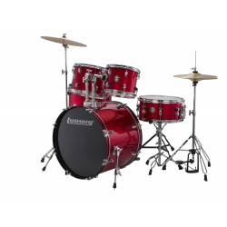 Ludwig Drumset Accent Fuse LC170 Red