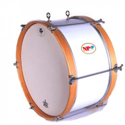 NP Bass Drum Marching 40x20 cms White