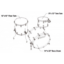 Tama MR32CZUS-BWO Starclassic Maple Blue And White Oyster / Smoked Black Nickel Hardware