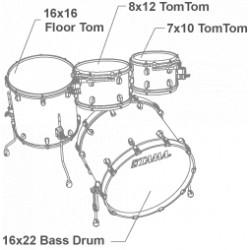 Tama MR42TZBNS-BWO Starclassic Maple Blue and White Oyster / Black Nickel Hardware
