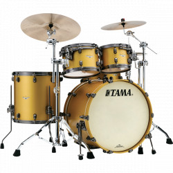 Tama Starclassic Maple Standard Satin Aztec Gold Metallic (Black Nickel)