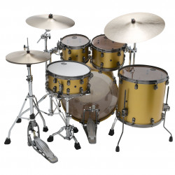Tama Starclassic Maple Standard Satin Aztec Gold Metallic (Smoked Black Nickel)