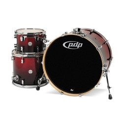 PDP by DW Concept Maple Rock Rojo to Black Sparkle