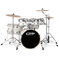PDP by DW Concept Maple CM7 Pearlescent White + Set Herrajes