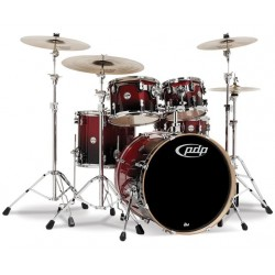 PDP by DW Concept Maple CM5 Standard Red to Black Sparkle Fade